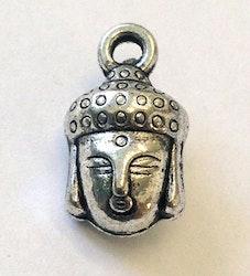 Antikfärgade berlocker buddha med ögla, 10 st