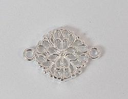 Silverfärgad connector blomma, 1 st