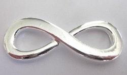 Silverfärgad connector Infinity, 1 st