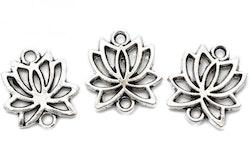 Antikfärgade connectors lotus, 10 st