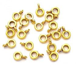 Antikt guldfärgade smala hangers, 20 st