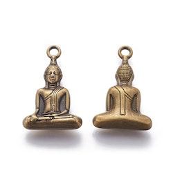 Bronzefärgad stor Buddha sittande, 1 st