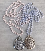 Antikfärgat hänge droppe med blomma, 1 st