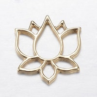 Guldfärgat hänge/connector lotus, 1 st
