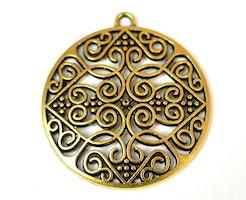 Antikt guldfärgat hänge med ögla, 1 st