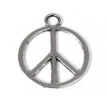 Antikfärgat hänge peace, 1 st