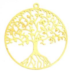Guldfärgat hänge av filigran livets träd, 1 st