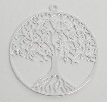 Silverfärgat hänge av filigran livets träd, 1 st