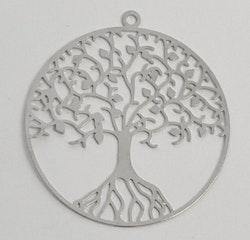 Antikfärgat hänge av filigran livets träd, 1 st