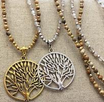 Antikfärgat stort hänge Livets träd, 1 st