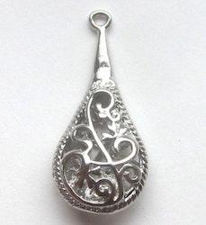Antikfärgad liten mönstrad droppe, 1 st