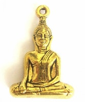 Antikt guldfärgad stor buddha sittande, 1 st