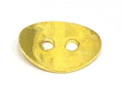 Guldfärgad knapp, 1 st