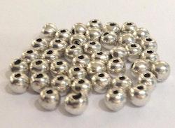 Antikfärgade metallpärlor 5 mm, ca 50 st