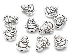 Antikfärgad pärla buddha, 10 st