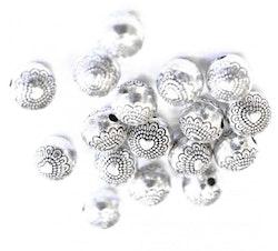 Antikfärgade metallpärlor med hjärtan 6 mm, ca 10 st
