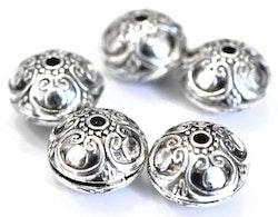 Antikfärgade metallpärlor 16 mm, 10 st