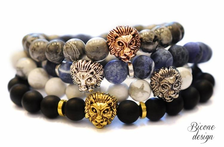 Antikt guldfärgat lejon, 1 st