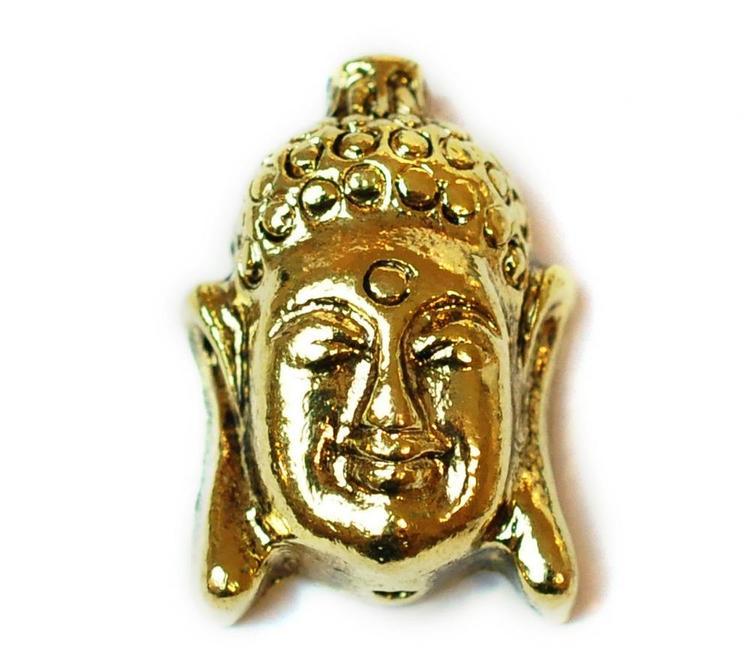 Antikt guldfärgad pärla stor buddha, 1 st
