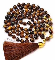 Antikt guldfärgade pärlor 8 mm med blomma, ca 100 st