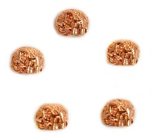 Roséfärgad metallpärla elefant, 1 st