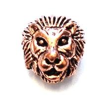 Antikt roséfärgat lejon, 1 st