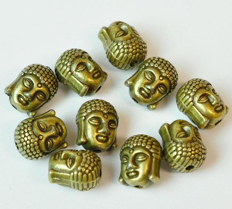 Bronzefärgad Buddha, 1 st