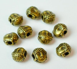 Bronzefärgade buddha mini, 10 st