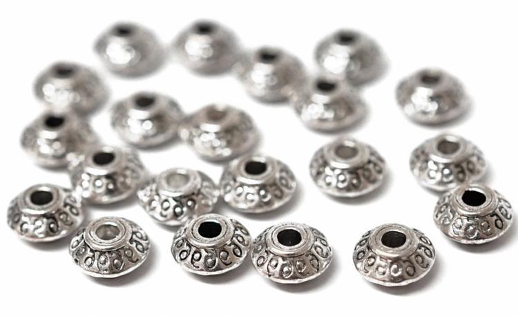 Antikfärgade mellandelar bicone 6 mm, ca 100 st