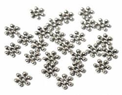 Antikfärgade daisys 8 mm, 100 st