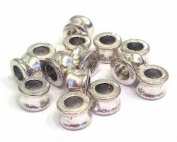 Antikfärgade släta tunnor 8 mm, ca 100 st