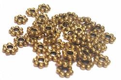 Antikt guldfärgade daisys 3-4 mm, ca 100 st