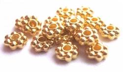 Guldfärgade daisys 3-4 mm, ca 1000 st