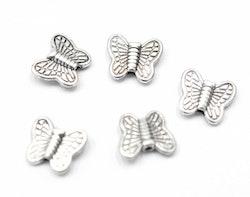 Antikfärgade mellandelar fjärilar, 10 st