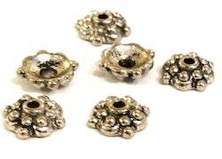 Antikfärgade pärlhattar 8 mm mönstrade, 100 st
