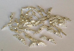 Silverfärgade änglavingar mini, 10 st