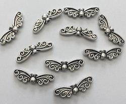 Antikfärgade änglavingar sirliga, 10 st