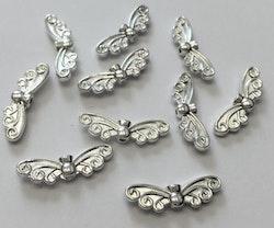 Silverfärgade änglavingar sirliga, 10 st