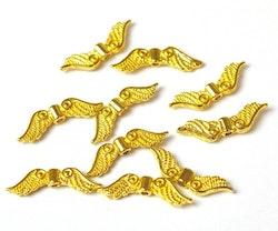 Guldfärgade änglavingar små, ca 100 st