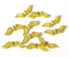 Guldfärgade änglavingar små, 10 st