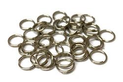 Rostfritt stål dubbelringar 6 mm, ca 200 st