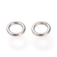 Rostfritt stål lödda ringar 6 mm, ca 50 st