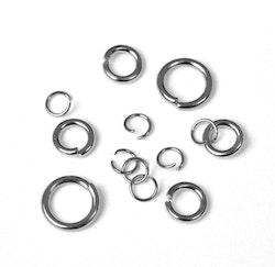 Rostfritt stål bindringar mix, ca 50 st