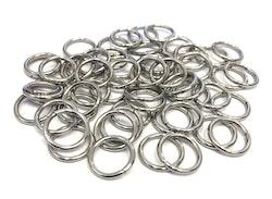 Rostfritt stål, bindringar 10 mm, ca 50 st