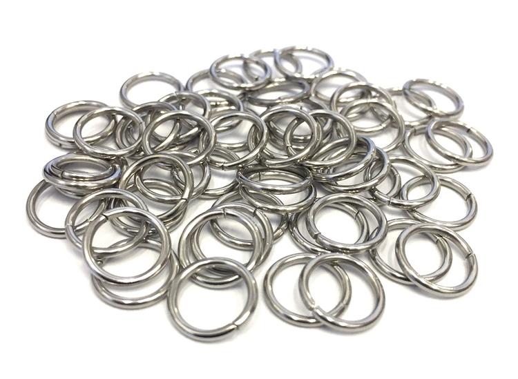 Rostfritt stål bindringar 8 mm, ca 50 st