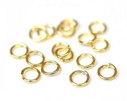 Guldfärgat rostfritt stål bindringar 4 mm, ca 20 st
