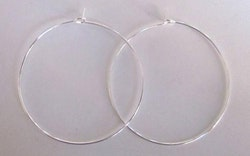 Silverfärgade creoler 25 mm, 100 st