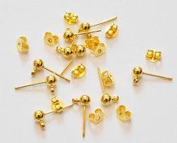 Guldfärgade stiftörhängen, 20 st