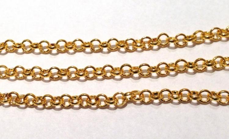Guldfärgad ärtlänk 2 mm, 10 m