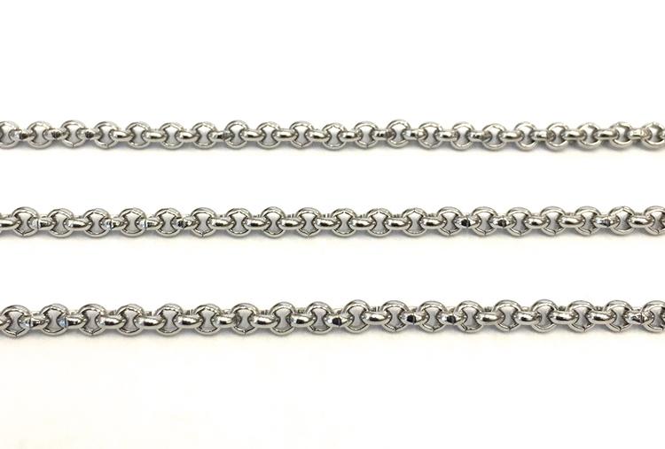 Rostfritt stål ärtlänk 2 mm, 1 m